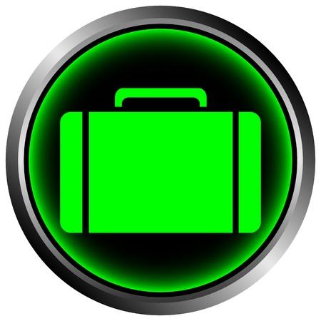 Button with a portfolio on white background Stock Vector - 11471542