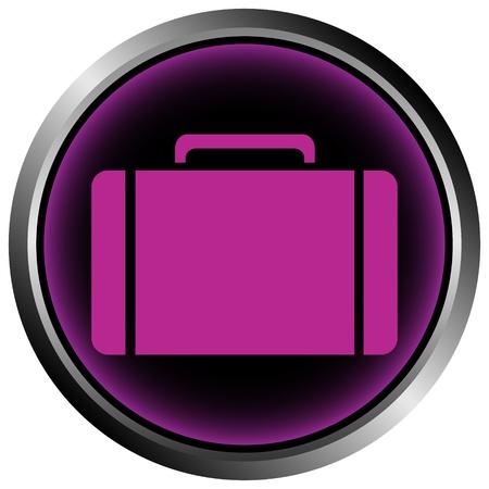 Button with a portfolio on white background Stock Vector - 11471576