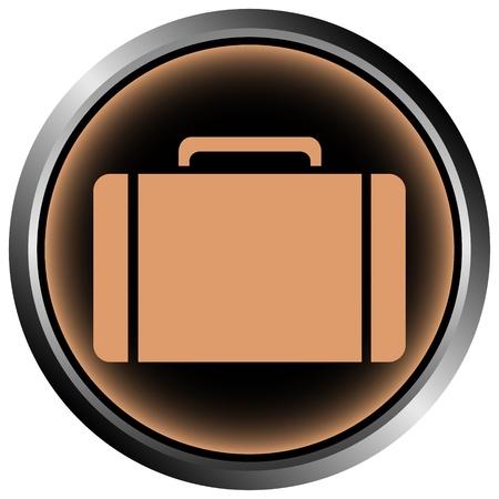 Button with a portfolio on white background Stock Vector - 11471579