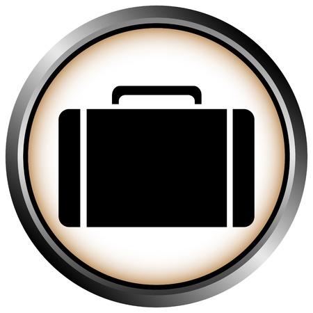 Button with a portfolio on white background Stock Vector - 11471541
