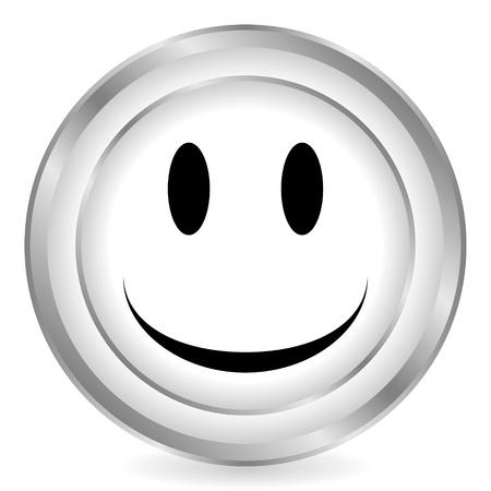 Smile face circle icon on white background