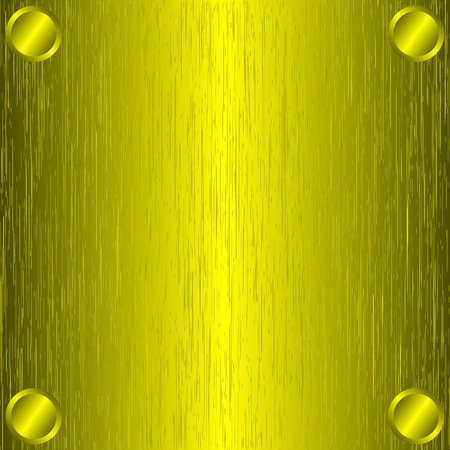 Brushed gold metal, template background.  Illustration