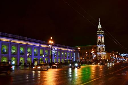 fussy: Night of St. Petersburg, Nevsky Prospekt, Russia