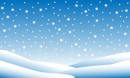 Winter background: chutes de neige Illustration