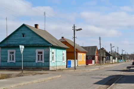 belarus: View of street in David-town, Belarus