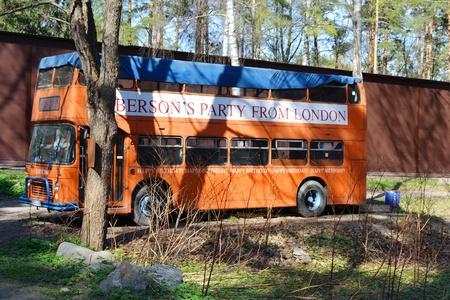 doubledecker: Zelenogorsk, Russia - May 15, 2011: red double-decker bus in the Zelenogorsk, Russia Editorial