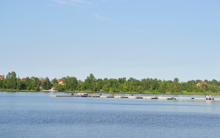 outskirts: View of Neva river, outskirts of St.Petersburg, Russia