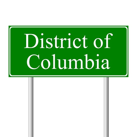 District of Columbia green road sign isolated on white background Stock Vector - 11760864