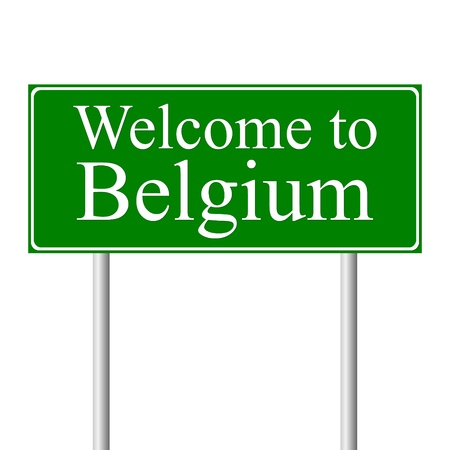Welcome to Belgium, concept road sign isolated on white background Stock Vector - 11861505