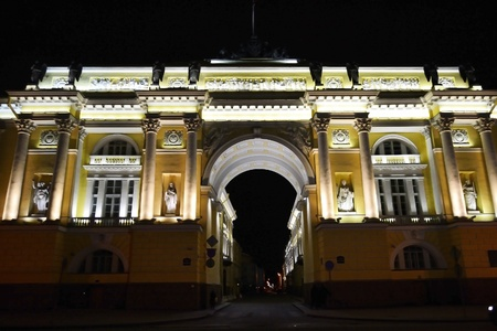 synod: Senate and Synod building at night, St.Petersburg, Russia