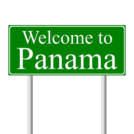 Welcome to Panama, concept road sign isolated on white background Stock Vector - 11861794
