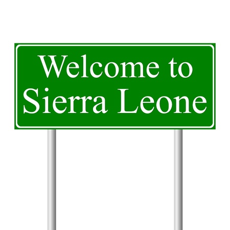 Welcome to Sierra Leone, concept road sign isolated on white background Stock Vector - 11913995