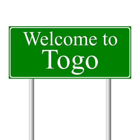 togo: Welcome to Togo, concept road sign isolated on white background