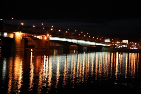 alexander nevsky: Alexander Nevsky Bridge at night, St.Petersburg, Russia