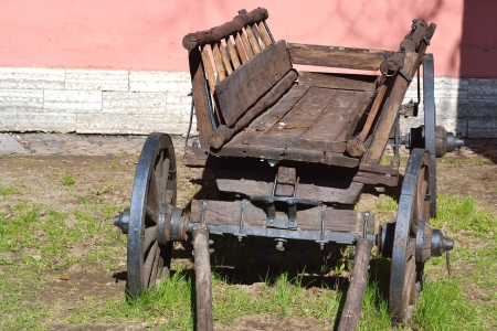 The photo of old antique wagon . photo