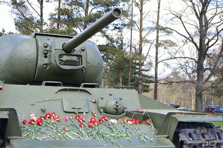 View of the old Soviet Union tank  Memorial  Stock Photo - 13535097