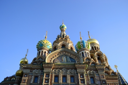 View of the temple Spas-na-krovi. Russia, St.Petersburg photo