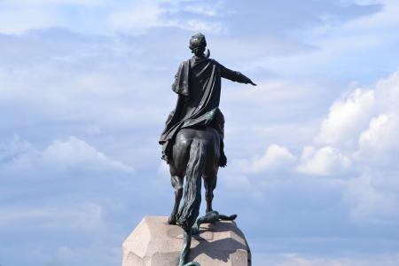 charro: Vista del monumento de bronce Caballero de San Petersburgo, Rusia