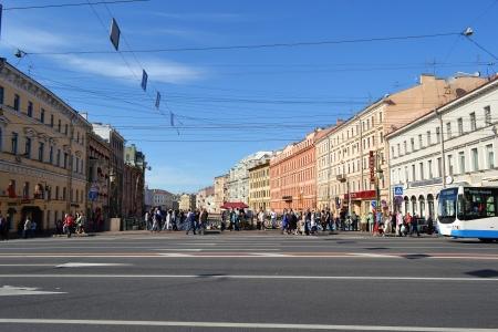 nevsky prospect: St. Petersburg, Russia - May 27, 2012: Nevsky Prospect - the main street of Saint Petersburg