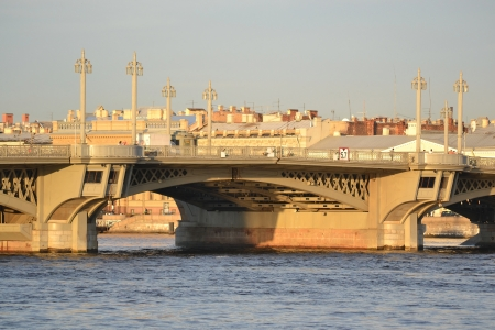 annunciation: View of Annunciation bridge in St.Petersburg, Russia.