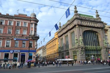 emporium: St.Petersburg, Russia - August 22, 2012: Eliseyev Emporium (Eliseevsky, Eliseieff brothers shop) in Nevsky Prospekt.