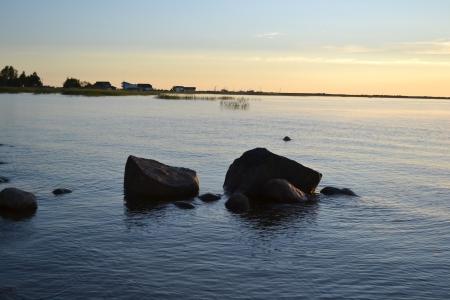ladoga: Lake Ladoga in the early morning, Russia Stock Photo