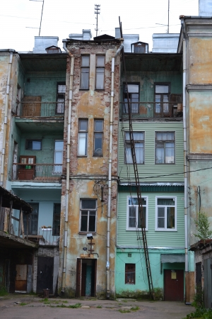 vyborg: The exterior of a old home in Vyborg, Russia