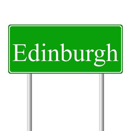 edinburgh: Edinburgh gr�nen Schild auf wei�em Hintergrund
