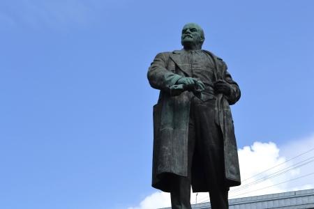 lenin: View of Lenin statue in Vyborg, Russia