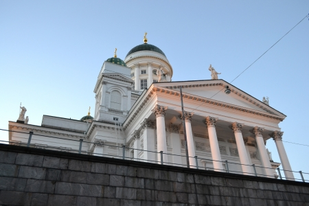 The Helsinki Cathedral in the early morning, Finland photo