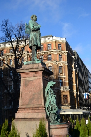 Helsinki, Finland - November 19, 2012: Statue in the center of Helsinki, Finland Stock Photo - 16744119