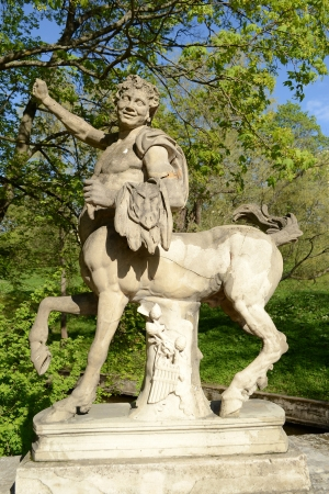 Statue of the Centaur in the Pavlovsk park, St Petersburg, Russia 스톡 콘텐츠