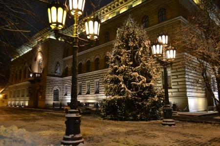 Night Riga at winter, Latvia Stock Photo - 17229613