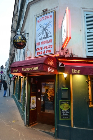 Paris, France - January 6, 2013: cafe in Montmartre