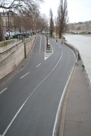 Embankment of the river Seine in Paris, France  photo