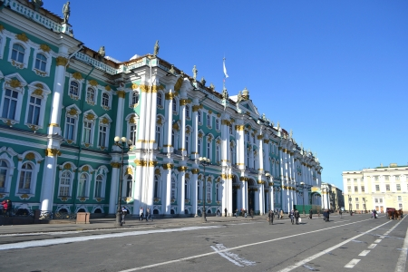 The Hermitage at winter, St.Petersburg, Russia