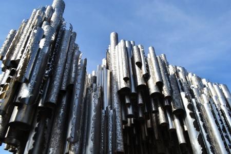 sibelius: View of Sibelius monument in Helsinki, Finland