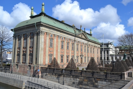 View of Parliament building in Stockholm, Sweden