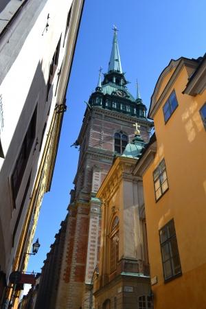 Tyska kyrkan (St. Gertrudes Church) on Gamla stan in Stockholm, Sweden. photo