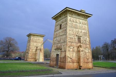 tsarskoye: Egyptian gate in Pushkin (Tsarskoye Selo), St.Petersburg, Russia