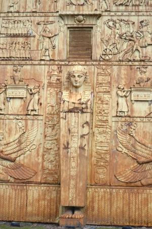 selo: Fragment of Egyptian gate in Pushkin (Tsarskoye Selo), St.Petersburg, Russia Stock Photo