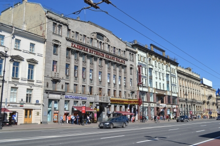 nevsky prospect: St.Petersburg, Russia - May 21, 2013: View of Nevsky Prospect - the main street of St.Petersburg, Russia