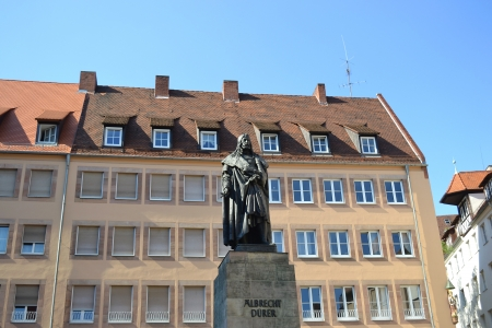 durer: Albrecht Durer Monument in Nuremberg, Germany