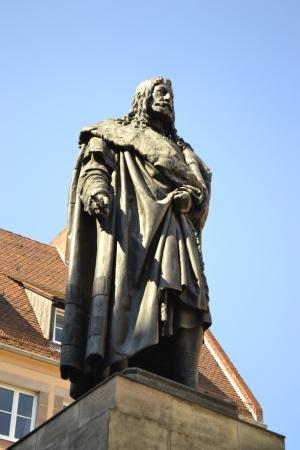 printmaker: Albrecht Durer Monument in Nuremberg, Germany