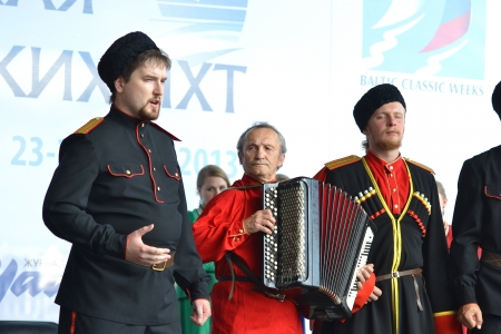 St. Petersburg, Russia: July 28, 2013 - Statement by the Cossack Choir Stock Photo - 21119627