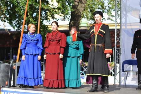 St. Petersburg, Russia: July 28, 2013 - Statement by the Cossack Choir Stock Photo - 21154564
