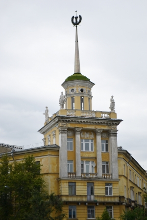 stalin empire style: The building is in the style of Stalin in Kolpino, St.Petersburg, Russia. Editorial