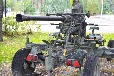 The old antiaircraft gun from World Second War in Imatra, Finland. photo