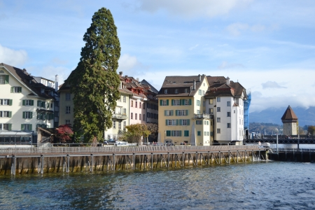 View of the center of Lucerne, Switzerland. Reklamní fotografie