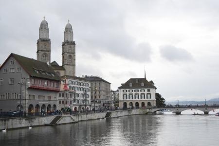 View of the Zurich donwtown, Switzerland.